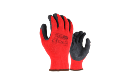 HEAVY DUTY LATEX GRIPPER GLOVE - CARDED